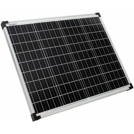 Module solaire 50W Cellule monocristalline 18V 670x550mm Verre de protection résistant intempéries