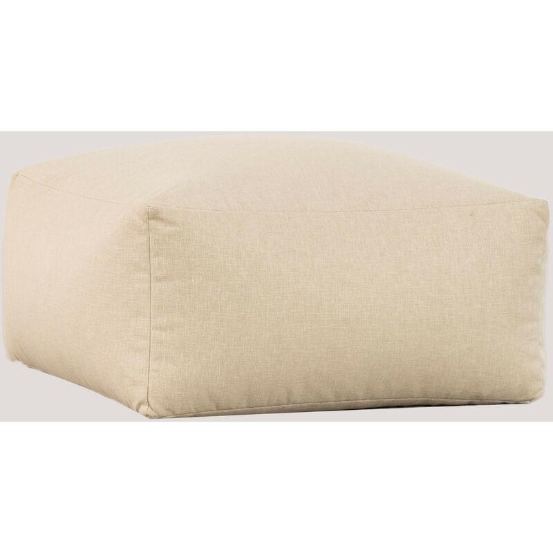 Modules de canapé de jardin en tissu Attus SKLUM Polyèster - Beige crème Poufs