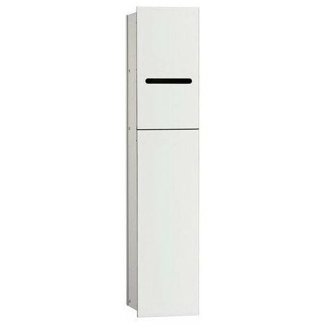 Módulo 2.0 WC Emco asis - modelo empotrado, portarrollos, 1 puerta con ranura, bisagra de puerta a la derecha, color: aluminio/blanco óptico - 975427450