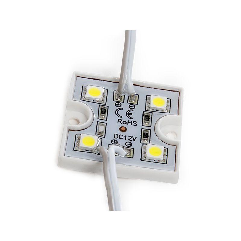 Modulo 4 LEDs SMD3528 0,6W | Verde (US-LMP3528W4-0001)