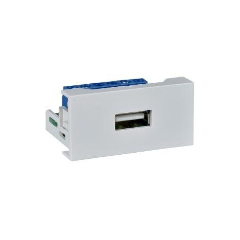 Modulo 45x22,5 USB-A hembra tipo A SCHNEIDER ELECTRIC TCN90104