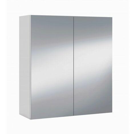 "main image of ""Módulo armario espejo baño camerino Blanco 60x65 cm IberoDepot"""