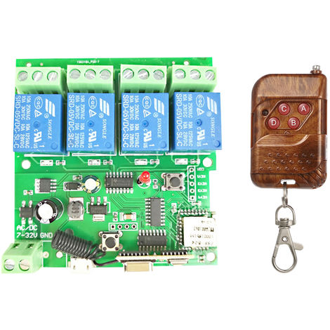 Modulo de Control Remoto Universal conmutador inalambrico de control inteligente 433Mhz, 4 canales DC 5V