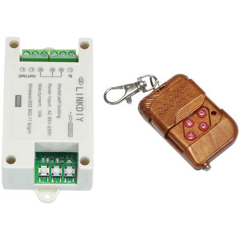 Modulo de interruptor de control remoto inalambrico 433Mhz, 2 canales, AC85-250V
