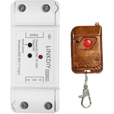 Modulo de interruptor de control remoto Wifi inteligente, 1CH, DC / AC7-32V, 433Mhz