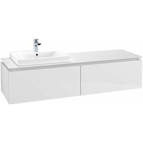 Módulo de lavabo Villeroy & Boch Legato B11760, 1600x380x500mm, lavabo a la izquierda, color: Blanco brillante - B11760DH