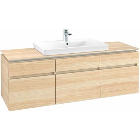 Módulo de lavabo Villeroy & Boch Legato B21900, 1600x550x500mm, céntrico, color: Elm Impresso - B21900PN