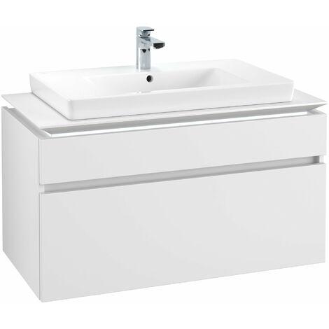 Módulo de lavabo Villeroy & Boch Legato B225L0, 1000x550x500mm, centro lavabo, iluminación LED, color: Blanco Mate - B225L0MS