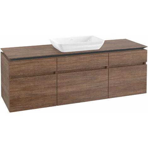 Módulo de lavabo Villeroy & Boch Legato B26000, 1600x550x500mm, centro lavabo, color: Roble Santana - B26000E1