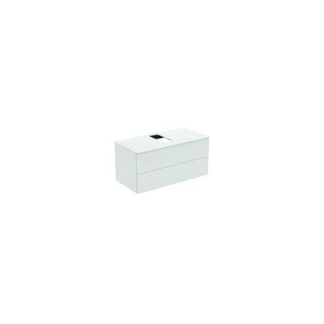 Módulo de lavabos Ideal Standard Adapto para lavabos Strada II, hueco central, 2 huecos, 1050mm, color: Pino decorado con luz - U8597FF