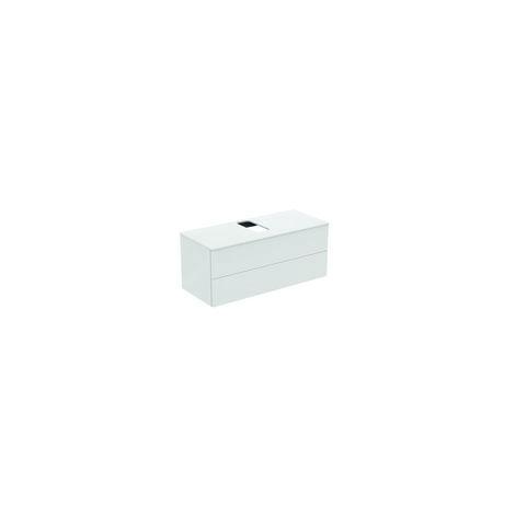 Módulo de lavabos Ideal Standard Adapto para lavabos Strada II, hueco central, 2 huecos, 1200mm, color: Pino decorado con luz - U8598FF