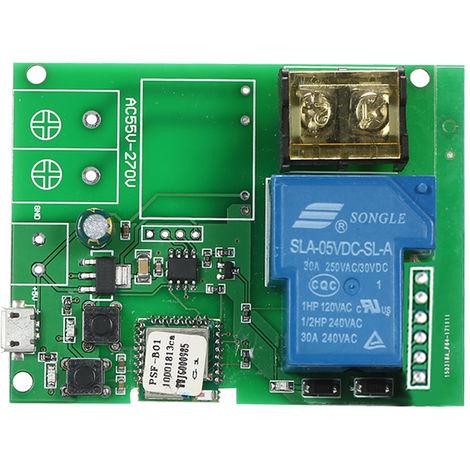 Modulo de rel¨¦ inal¨¢mbrico con interruptor Wifi, USB DC5V 30A