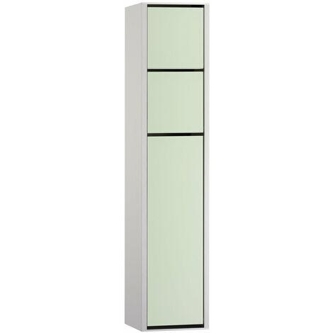 Módulo Emco asis 150 Modelo de módulo WC de superficie, caja de papel higiénico, portarrollos, juego de escobillas para el inodoro, color: aluminio/blanco óptico - 975127450