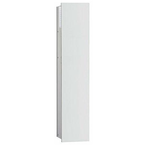 Módulo Emco asis 2.0 WC - modelo empotrado, 1 puerta, bisagra de puerta con bisagra a la derecha, color: aluminio/blanco óptico - 975427452
