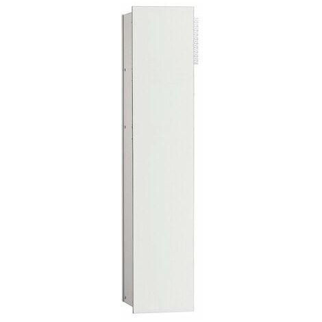 Módulo Emco asis 2.0 WC - modelo empotrado, 1 puerta, bisagra de puerta con bisagra a la izquierda, color: aluminio/blanco óptico - 975427453