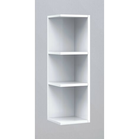 Módulo estantería rinconera baño o comedor Blanco 65x20x21 cm