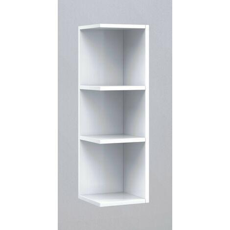Módulo estantería rinconera baño o comedor Blanco 65x20x21 cm IberoDepot