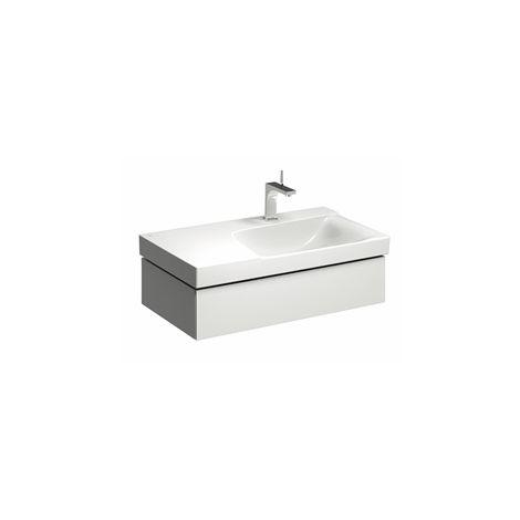 Módulo lavabo Geberit Xeno 2 con sifón a la derecha 807490 880x220x462mm, blanco, lacado brillante - 807490000