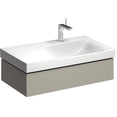 Módulo lavabo Geberit Xeno 2 con sifón a la derecha 807491 880x220x462mm, Gris, lacado mate - 807491000