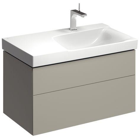 Módulo lavabo Geberit Xeno 2 con sifón a la derecha 807691 880x530x462mm, Gris, lacado mate - 807691000