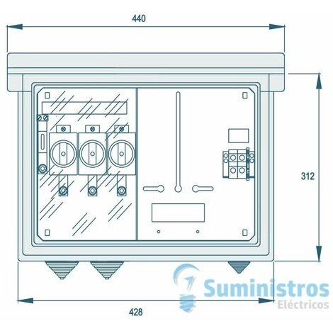 Modulo pinazo monofasico de medida individual (exterior) Union Fenosa CPM-1ME UF (FS-100)