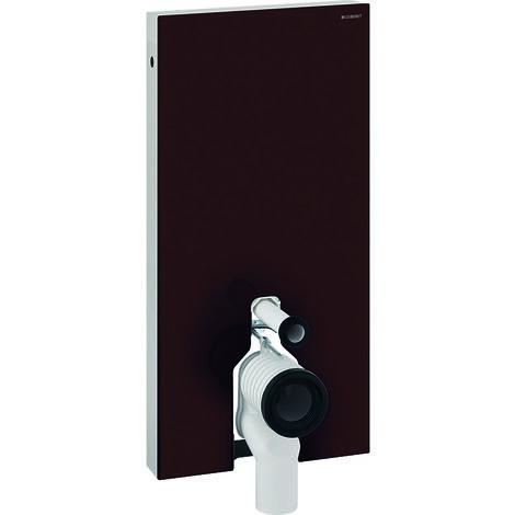 Módulo sanitario Geberit Monolith para WC independiente, 101cm, conexión lateral de agua, con pieza de conexión P, color: La umbra de vidrio - 131.003.SQ.5