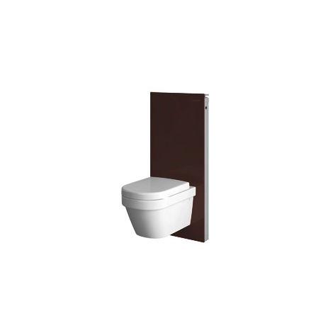 Módulo sanitario Geberit Monolith para WC mural, 101cm, conexión de agua lateral, con pieza de conexión, color: La umbra de vidrio - 131.022.SQ.5