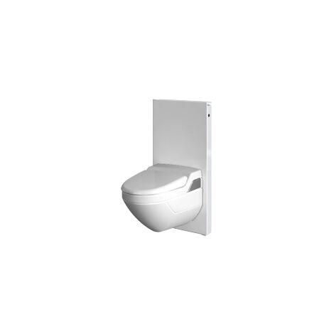 Módulo sanitario Geberit Monolith para WC mural, 101cm, conexión de agua lateral, con pieza de conexión, color: Menta de vidrio - 131.022.SL.5