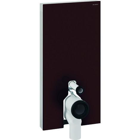Módulo sanitario Geberit Monolith PLUS para WC independiente, 101cm, conexión lateral de agua, con pieza de conexión P, color: La umbra de vidrio - 131.203.SQ.5