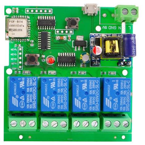 Modulo universal de interruptor de control remoto inalambrico inteligente, 4 canales DC 5V AC85-220V