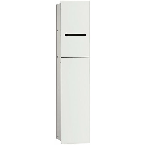 Módulo WC Emco asis 2.0 - modelo empotrado, portarrollos, 1 puerta con ranura, bisagra de puerta con bisagra a la izquierda, color: aluminio/blanco óptico - 975427451