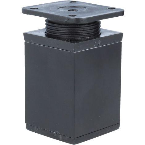 Möbelfuß Möbelfüsse Aluminium Fuss 40x40mm Höhe 60mm Schwarz Höhenverstellbar