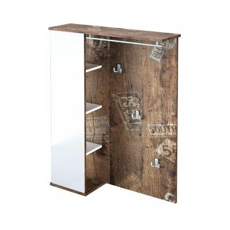 Möbelpartner Pisa Garderobe | HxBxT 1132 x 900 x 245 mm | Panamaeiche