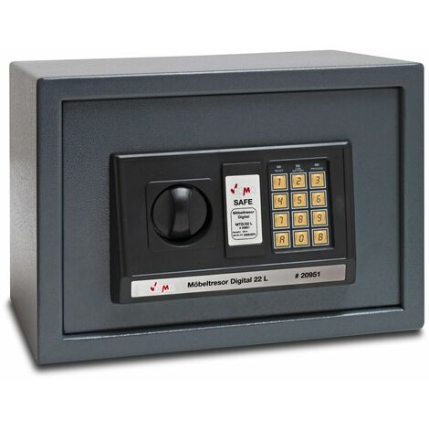 Möbeltresor Wandtresor Tresor Safe Wandsafe Geldschrank Digital 22 L 35x25x25cm