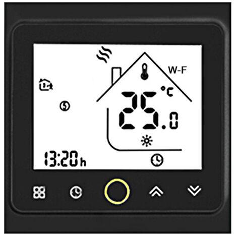 MOES, controlador de temperatura de termostato inteligente Wifi, para Alexa / Google Home, negro