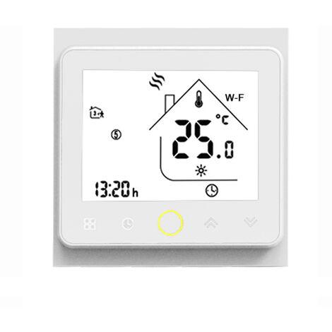 MOES, controlador de temperatura del termostato wifi, 5A para Alexa / Google Home, blanco