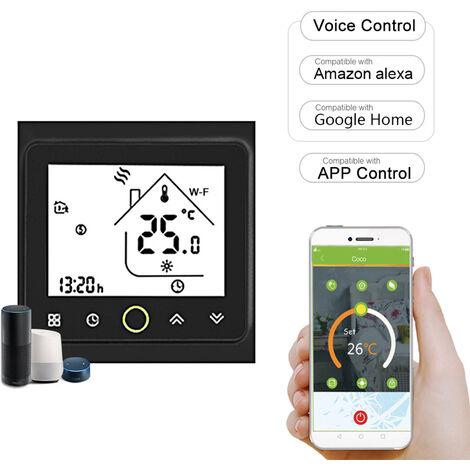Moes Wi-Fi Thermostat Intelligent Contr?leur, Temp¨¦rature App Contr?le, Noir