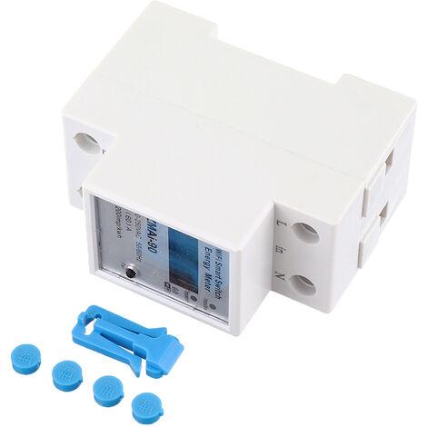 MoesHouse WiFi Smart Powered Meter Switch Consommation Surveillance D'énergie Compteur 110V 220V Din Rail Smart Life App Télécommande