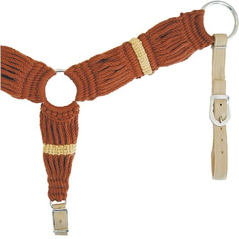 Mohair western breastplate with nylon stripes Lakota