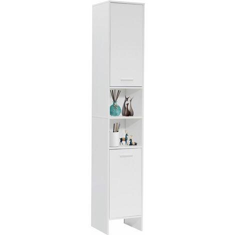 "main image of ""Mohoo Column Cabinet Bathroom Cabinet 2 Doors Storage Shelf"""