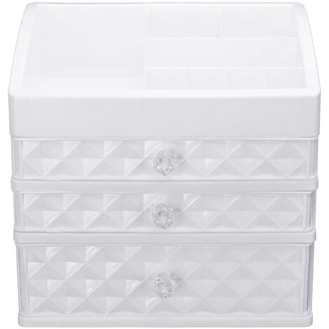 Mohoo Cosmetic Makeup Storage Box Drawer Plastic Jewelry Table Holder Organizer