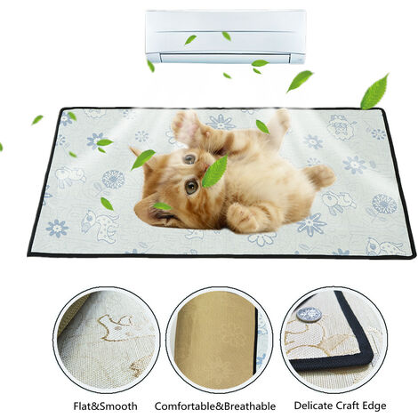 Mohoo Ice Silk Cooling Mat For Fresh Animals Blue M 50 x 35 cm