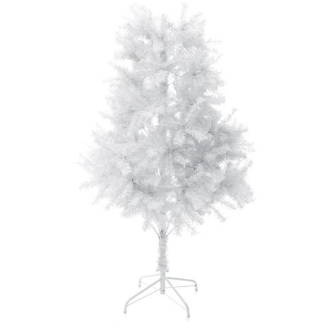 Mohoo Pine Artificial Christmas Tree with Solid Metal Legs Perfect for Indoor and Outdoor Holiday Decorating (White, 6ft)