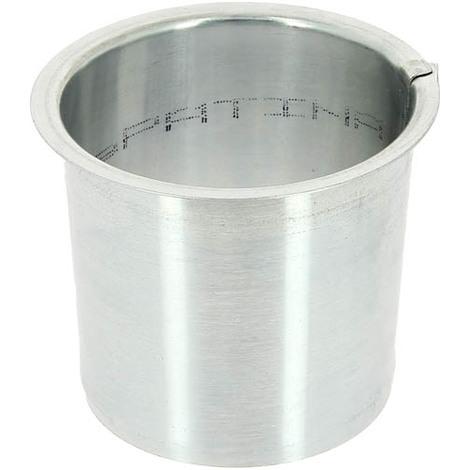 Moignon plat zinc O80 pour gouttiere nantaise ou havraise