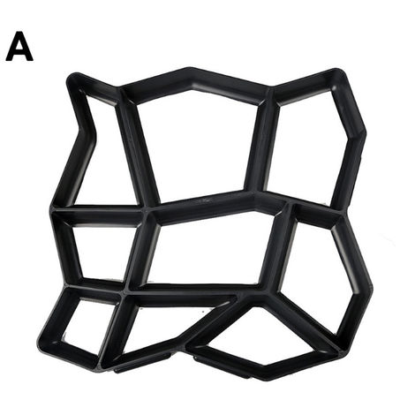 Molde de plastico de bricolaje para pavimento de jardin, moldes de creador de caminos,A(no se puede enviar a Baleares)