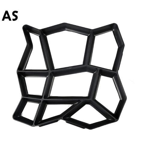 Molde de plastico de bricolaje para pavimento de jardin, moldes de creador de caminos,AS(no se puede enviar a Baleares)