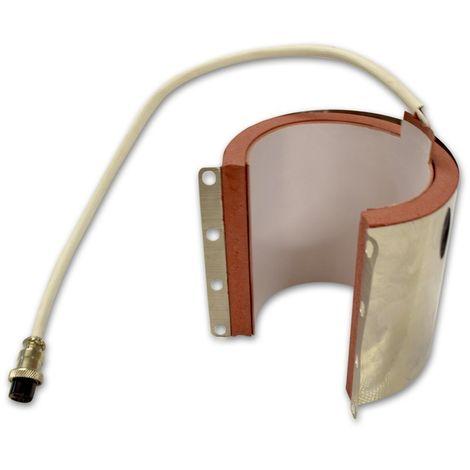 Molde de resistencia para tazas rectas 11 a 15 oz con chapa plancha transfer ampliable 38x38 cm pt-3838