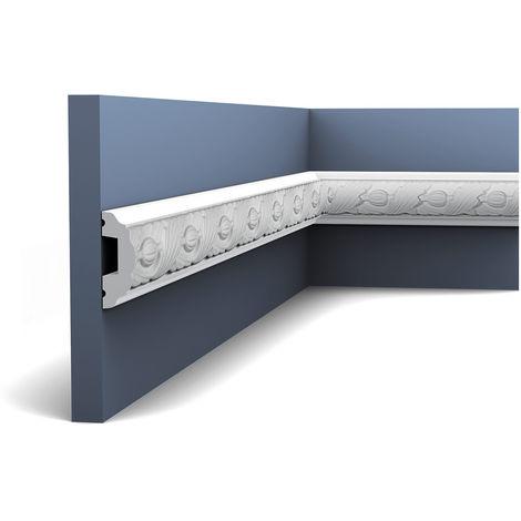 Moldura Cornisa Perfil de estuco Orac Decor P1020 LUXXUS Elemento decorativo para pared y techo 2 m