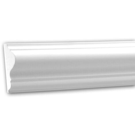 Moldura para pared 151301F Profhome Perfil de estuco Moldura flexible Moldura decorativa estilo Neoclasicismo blanco 2 m