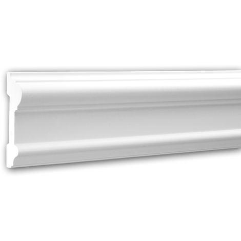 Moldura para pared 151307 Profhome Perfil de estuco Moldura decorativa Moldura decorativa pared estilo Neoclasicismo blanco 2 m